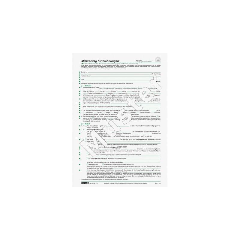 Brunnen Mietvertrag Wohnungen, A4, 6 Seiten, 1,60 €
