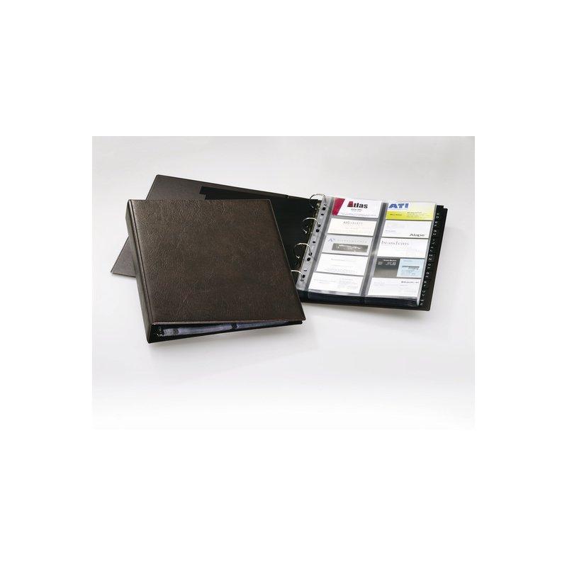 Durable Visifix A4 Visitenkartenringbuch Genarbte Folie Mit 20 Hüllen Braun
