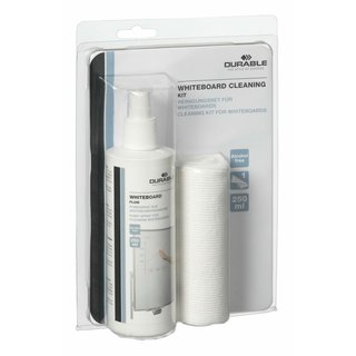 Durable WHITEBOARD CLEANING KIT, Reinigungsset für Whiteboards